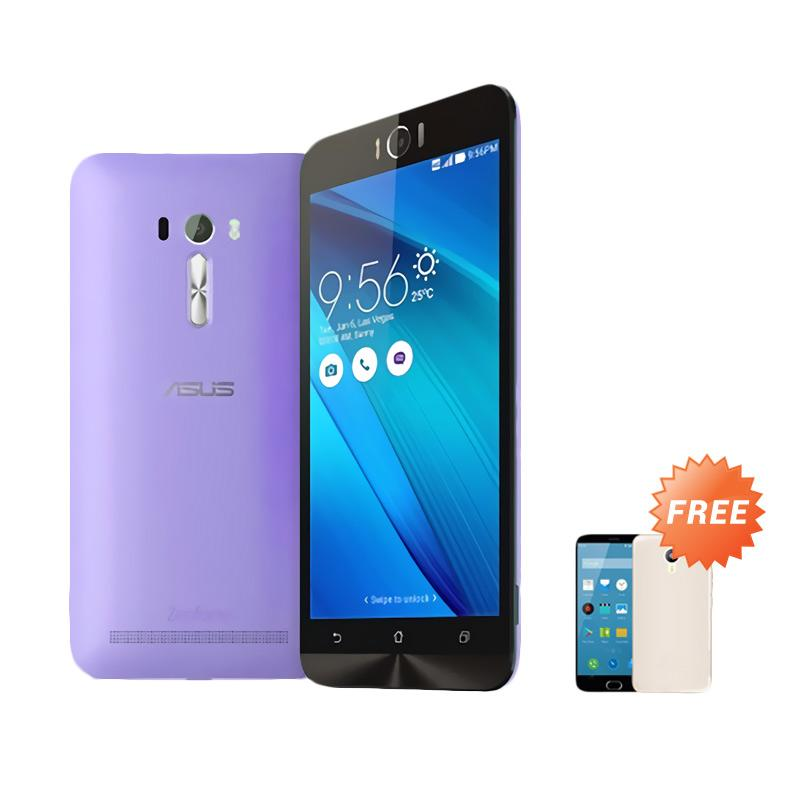 Best Seller Aircase Ultrathin For Zenfone Laser 5 inch + Free Ultra thin   - Purple Clear
