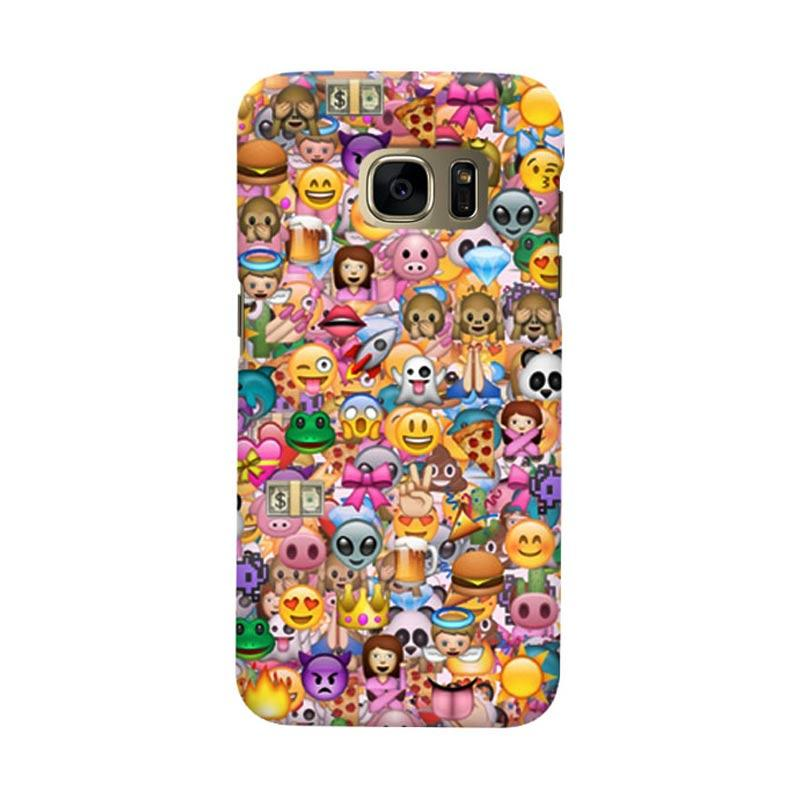 Indocustomcase Animation Emoticon Cover Casing for Samsung Galaxy S6 Edge