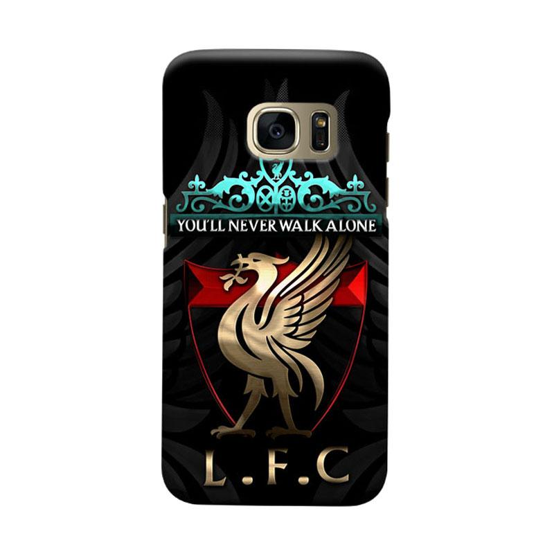 Indocustomcase Liverpool Logo LFC02 Cover Casing for Samsung Galaxy S7 Edge
