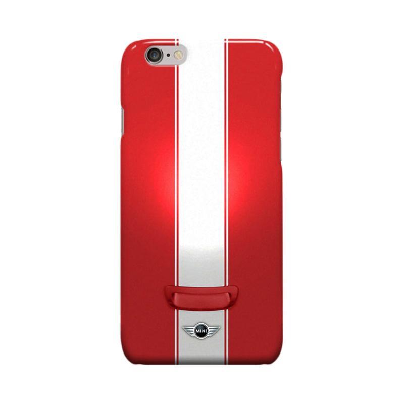 Indocustomcase Red Mini Cooper Cover Casing for Apple iPhone 6 Plus or 6S Plus