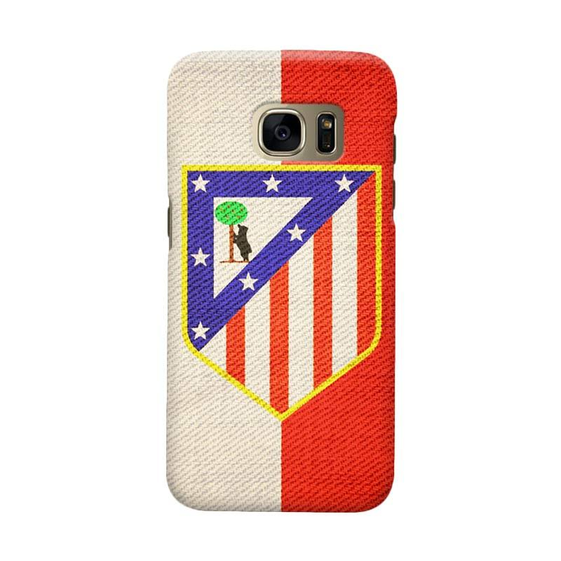 Indocustomcase Atletico Madrid Vintage Cover Casing for Samsung Galaxy S6