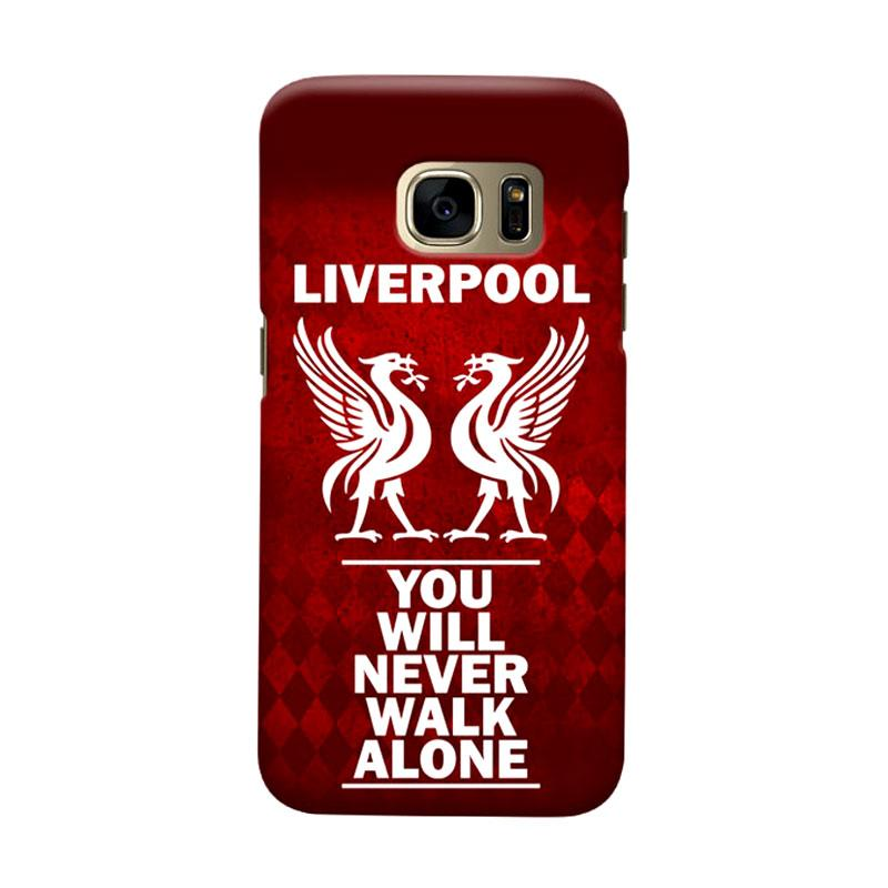 Indocustomcase Liverpool Logo LFC04 Cover Casing for Samsung Galaxy S7 Edge