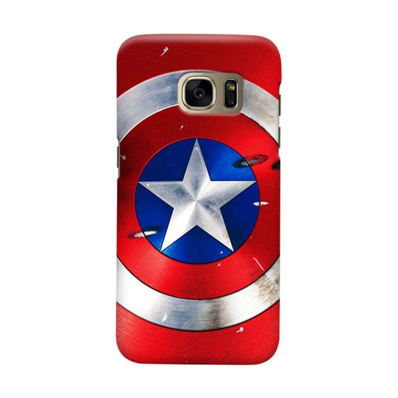 Indocustomcase Captain America Shield CAS01 Cover Casing for Samsung Galaxy S6