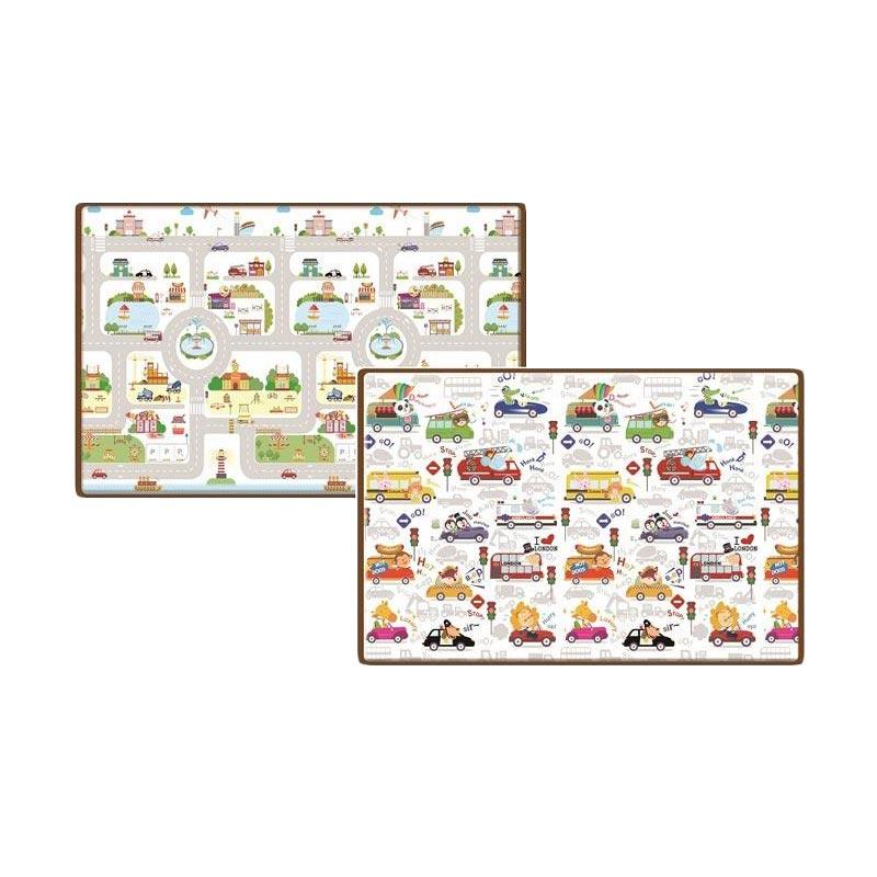 Parklon Pe Roll Mat Rush Hour  Baby Playmat Karpet Alas Bermain Bayi Korea [Size L/200 x 150 x 1 cm]