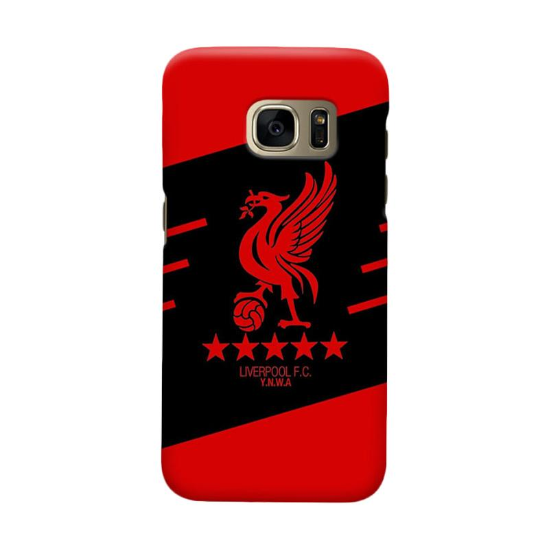Indocustomcase Liverpool Logo LFC07 Cover Casing for Samsung Galaxy S7 Edge