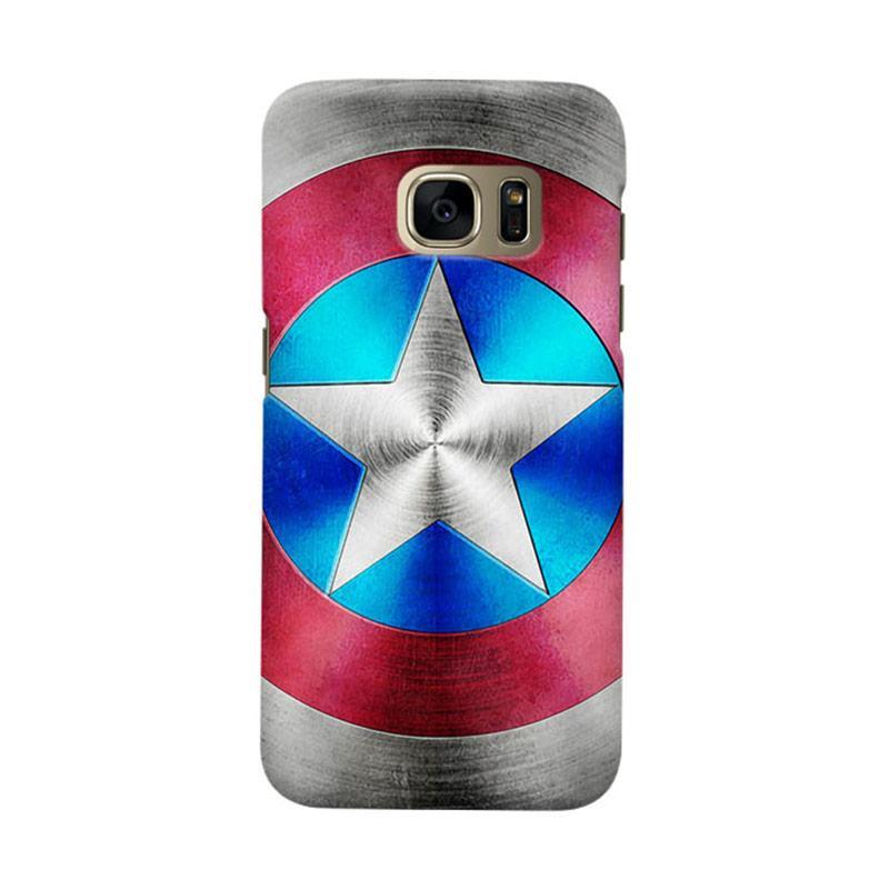 Indocustomcase Captain America Shield CAS03 Cover Casing for Samsung Galaxy S6