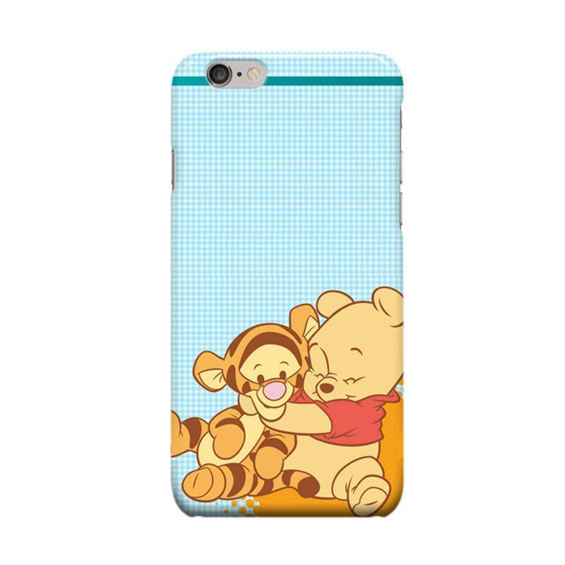 Indocustomcase Cartoon The Pooh Blue Casing for Apple iPhone 6 Plus or 6S Plus