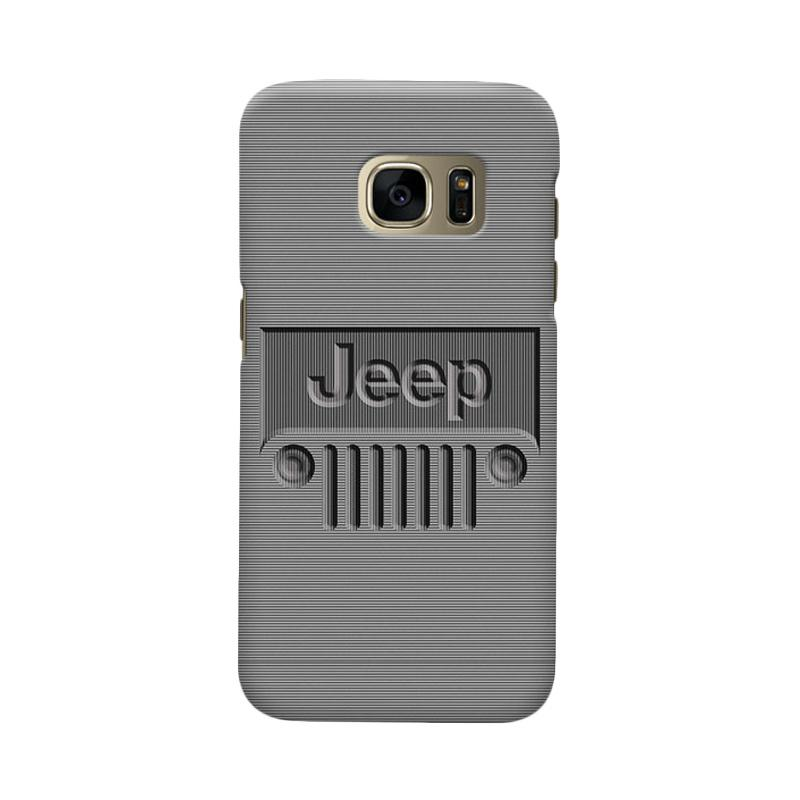 Indocustomcase Jeep Minimal Stripe Cover Casing for Samsung Galaxy S7 Edge