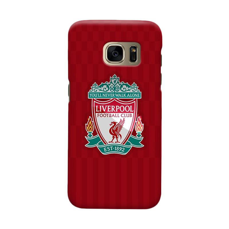 Indocustomcase Liverpool Logo LFC08 Cover Casing for Samsung Galaxy S7 Edge