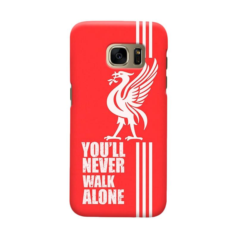 Indocustomcase Liverpool Logo LFC09 Cover Casing for Samsung Galaxy S6 Edge