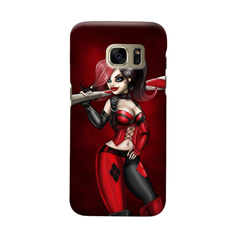 Indocustomcase Batman Harley Quinn Cover Casing for Samsung Galaxy S7 Edge