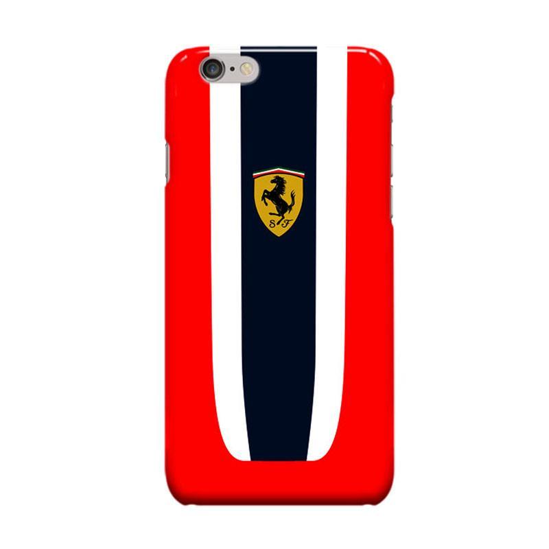 Indocustomcase Ferrari Logo Stripe Cover Casing for iPhone 6 Plus or 6S Plus