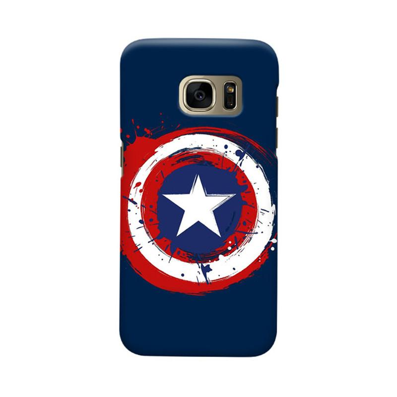 Indocustomcase Captain America Shield CAS05 Cover Casing for Samsung Galaxy S6