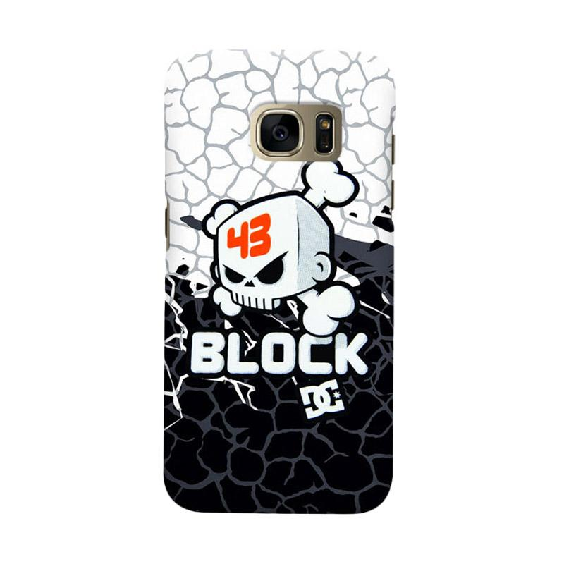 Indocustomcase Ken Block Skull Logo Cover Casing for Samsung Galaxy S6 Edge