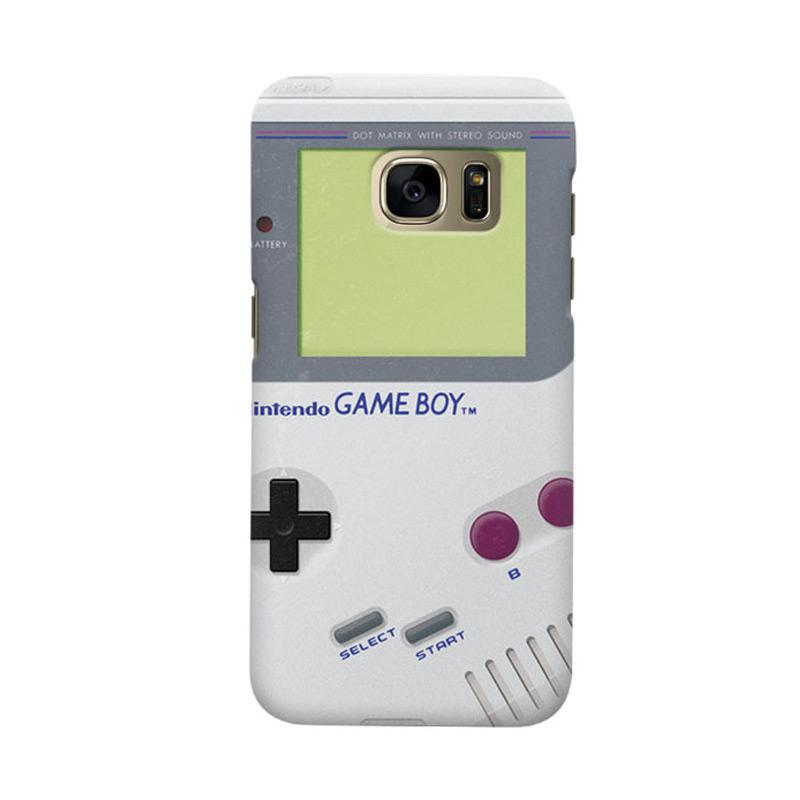 Indocustomcase White Nintendo Game Boy Cover Casing for Samsung Galaxy S6