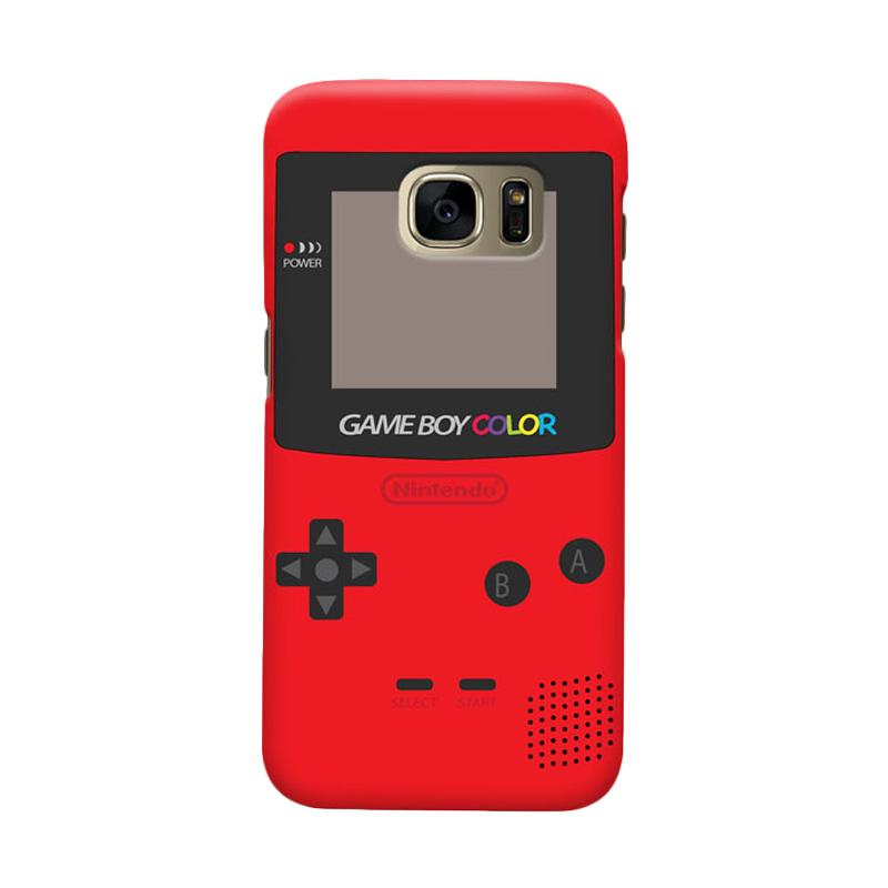 Indocustomcase Nintendo Red Game Boy Cover Casing for Samsung Galaxy S6 Edge
