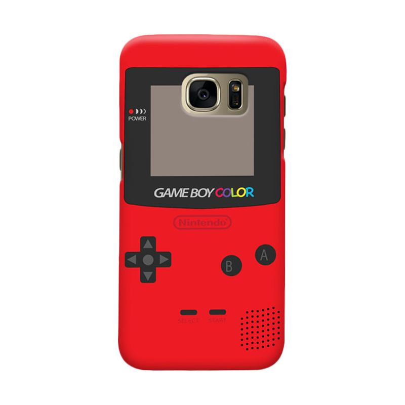 Indocustomcase Nintendo Red Game Boy Cover Hardcase Casing for Samsung Galaxy S7 Edge