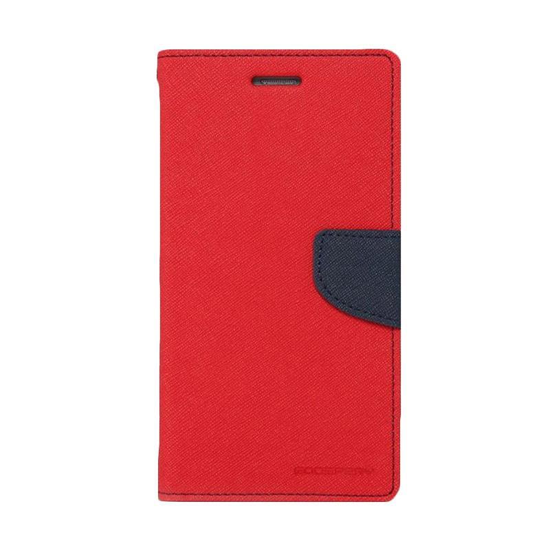 Mercury Fancy Diary Flip Cover Casing for Samsung Galaxy Ace NXT Ace 4 G313H - Merah Biru Laut