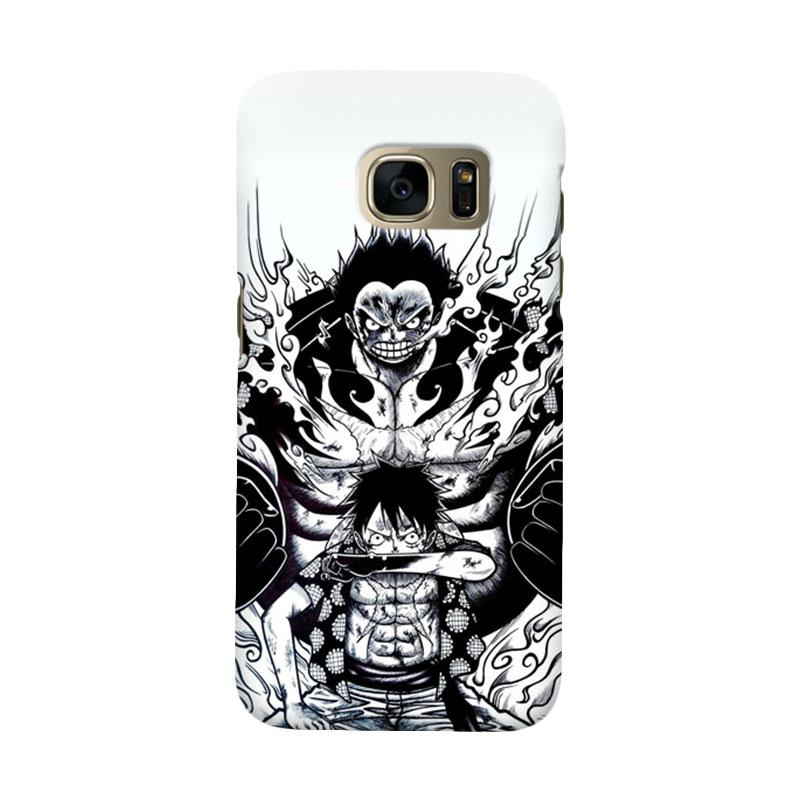 Indocustomcase Anime One Piece Luffy Art Cover Casing for Samsung Galaxy S6