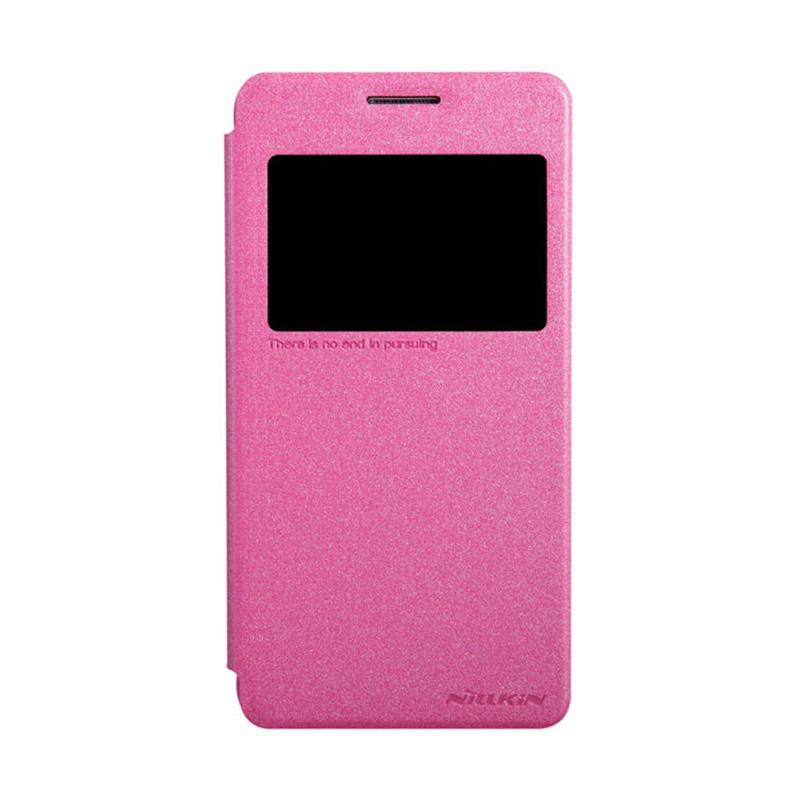 Nillkin Original Sparkle Leather Flip Cover Casing for Samsung Galaxy Grand Prime - Pink