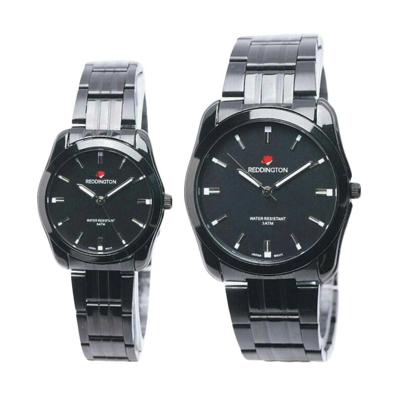 Reddington D44H260RD8010CHTM Analog Stainless Steel Chain Couple Edition Watch - Silver Black