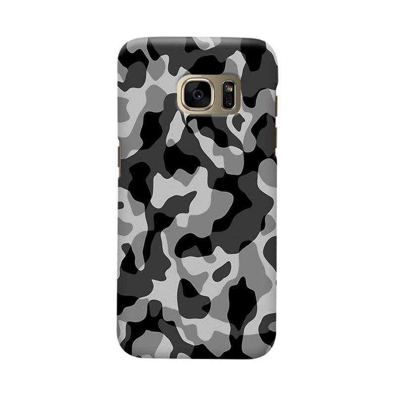 Indocustomcase Army Grey Camoflauge Casing for Samsung Galaxy S6 Edge