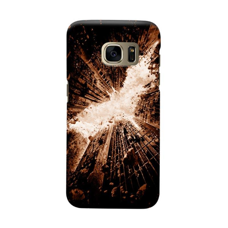 Indocustomcase Batman City Logo Black Cover Casing for Samsung Galaxy S6 Edge