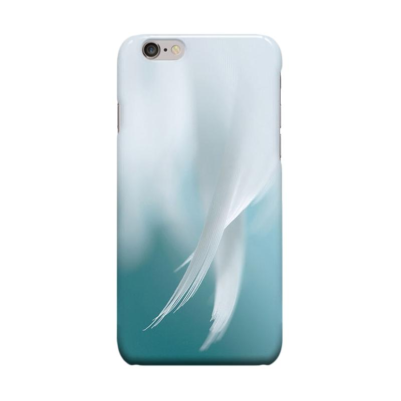 Indocustomcase Feather Of Angels Cover Casing for Apple Iphone 6 Plus or 6S Plus