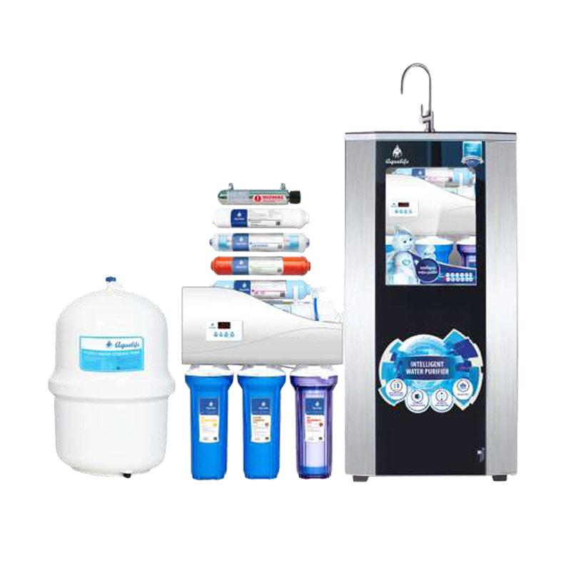 Ohome Aqualife Cabinet Dispenser 9 Stage 100 GPD Filter Saringan Air Minum - Hitam