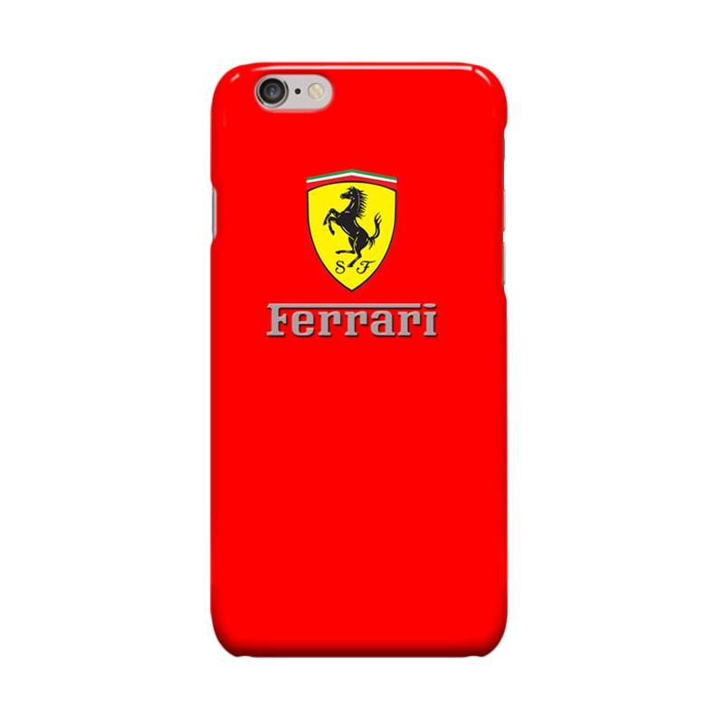 Indocustomcase ferrari Logo Cover Casing for Apple iPhone 6 Plus or 6S Plus - Red