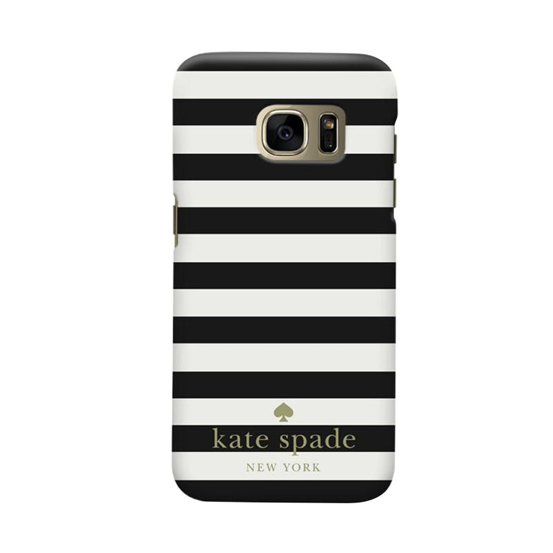 Indocustomcase Kate Spade Black Stripe RB Cover Casing for Samsung Galaxy S6