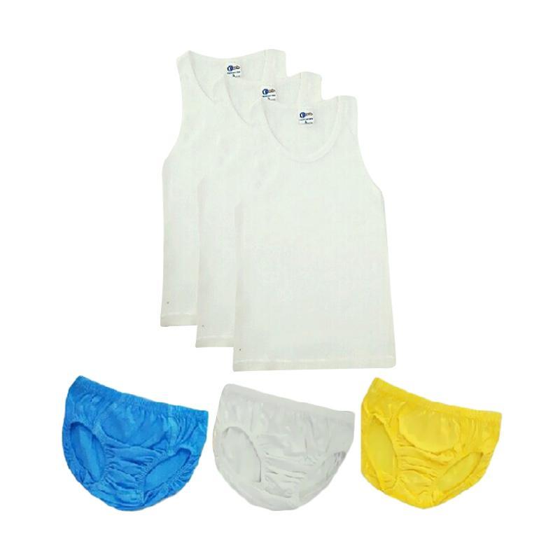 harga Pierre Uno Kids - Combo Sekolah Cotton Polos Singlet & Celana Dalam Anak Laki-Laki [6 Pcs] Blibli.com
