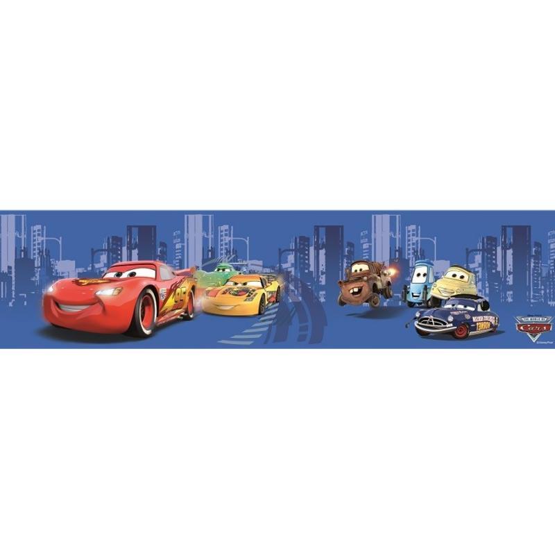 Hyundae Fixpix DT 23844 The Car And Friends Border Sticker Dekorasi Dinding - Blue [15 cm x 5 m]
