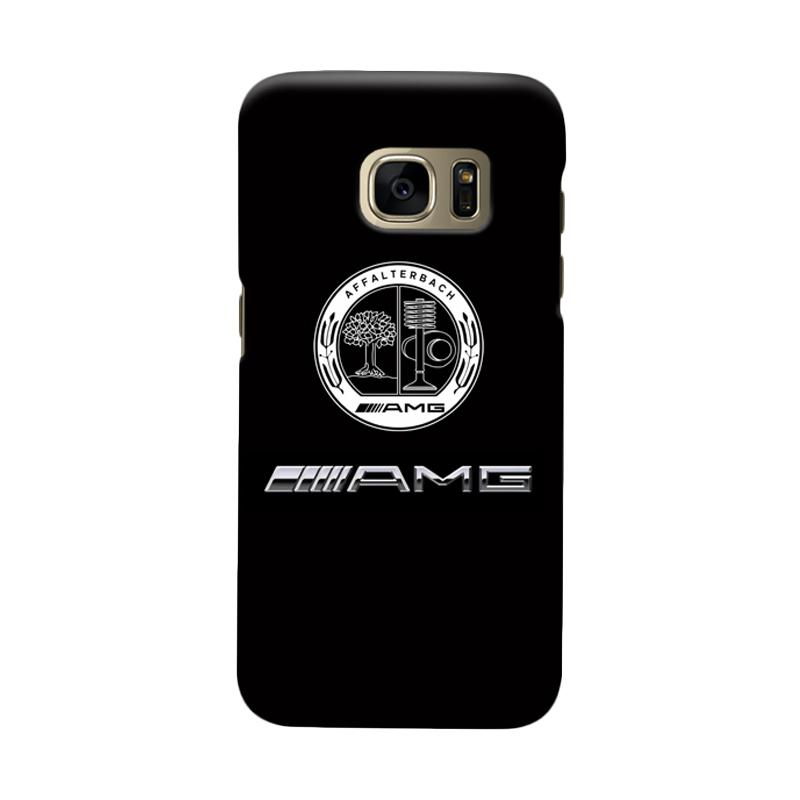 Indocustomcase Mercedes Benz AMG Logo Cover Casing for Samsung Galaxy S6 Edge