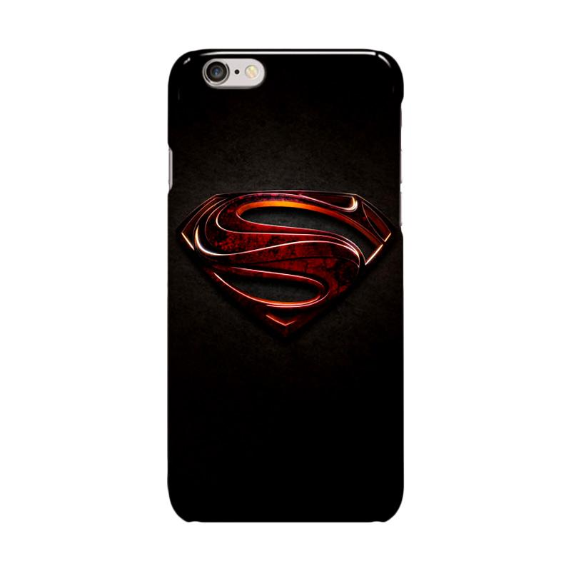 Indocustomcase Superman Man Of Steal Cover Casing for iPhone 6 Plus or 6S Plus