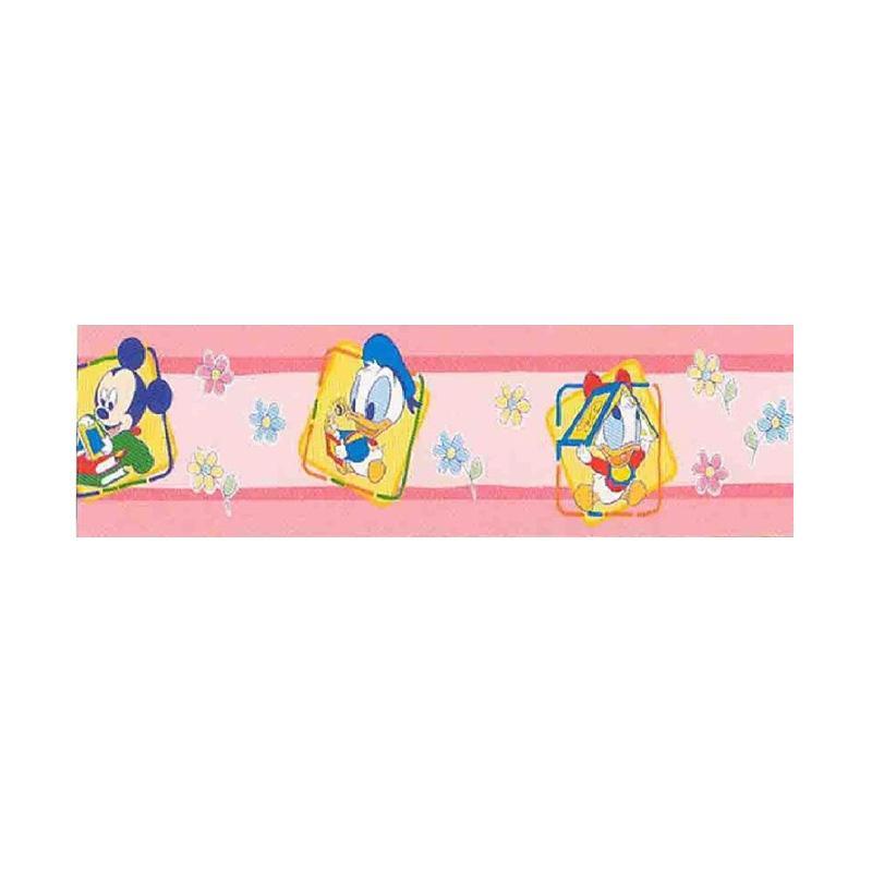 Hyundae Fixpix Border Sticker DT 21S Studytime Sticker Dekorasi Dinding  [5 cm x 5 m]