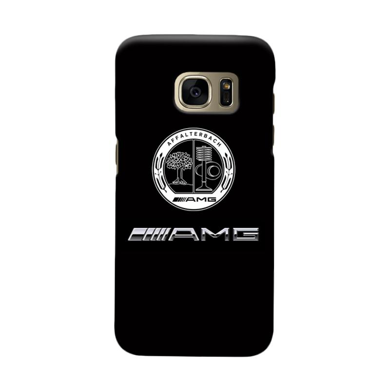 Indocustomcase Mercedes Benz AMG Logo Cover Hardcase Casing for Samsung Galaxy S7 Edge
