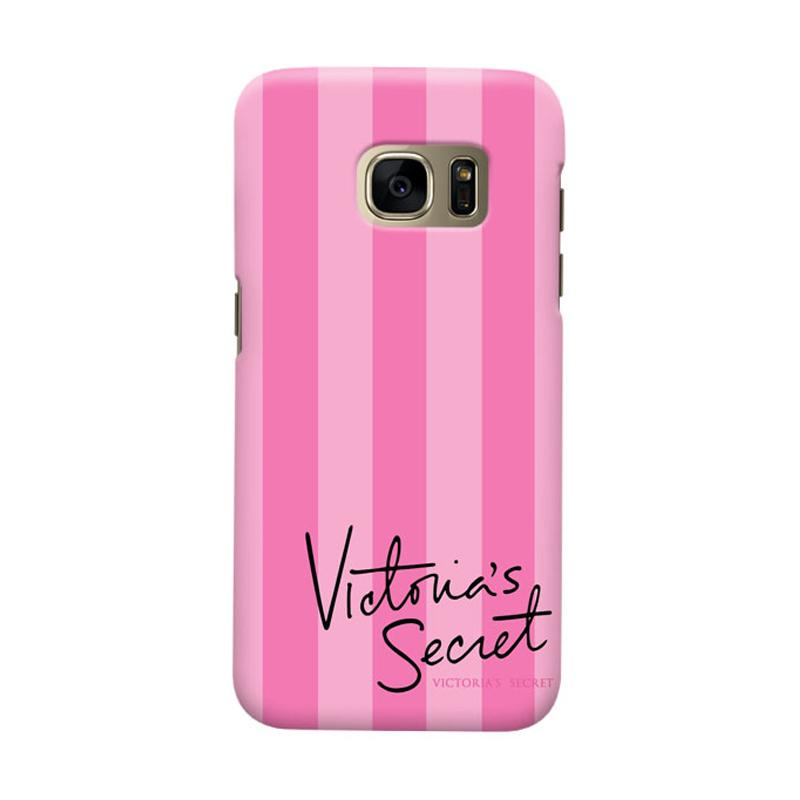 Indocustomcase Victoreria Secret Pink Cover Casing for Samsung Galaxy S6