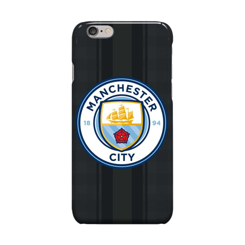 Indocustomcase Menchester City Logo Cover Casing for iPhone 6 Plus or 6S Plus