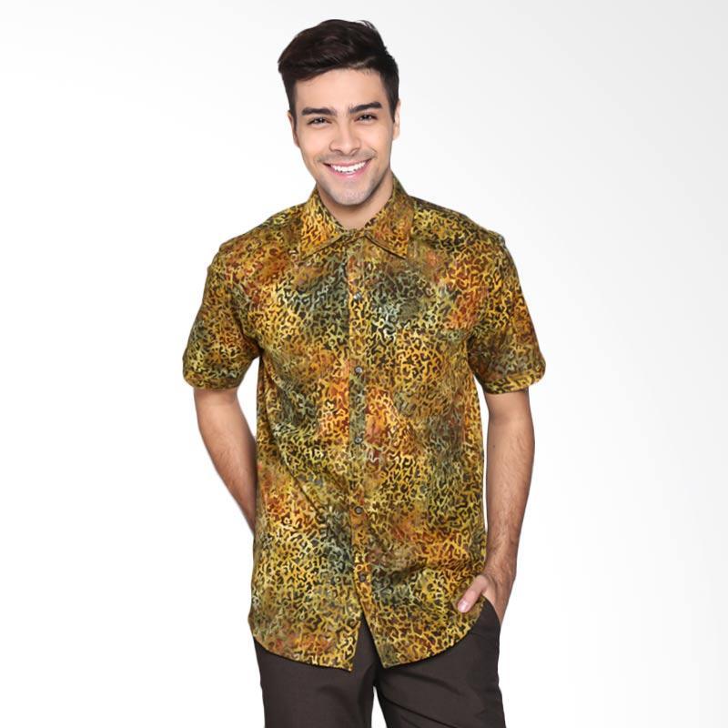 Batik Pria Tampan PKMPD-04081681C-Cornsilk Men Cap Slim ABS Hedge Apple Texture Batik Pria