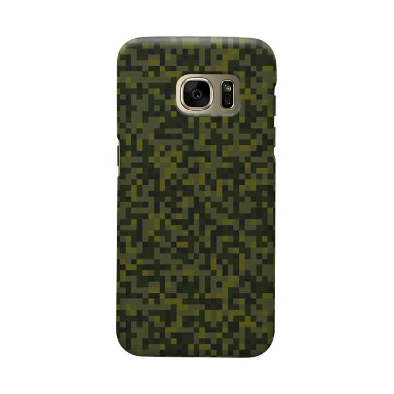 Indocustomcase Army Green Camoflauge 2 Casing for Samsung Galaxy S6 Edge