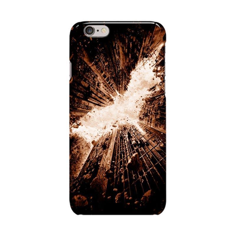 Indocustomcase Batman City Logo Cover Casing for Apple iPhone 6 Plus or 6S Plus