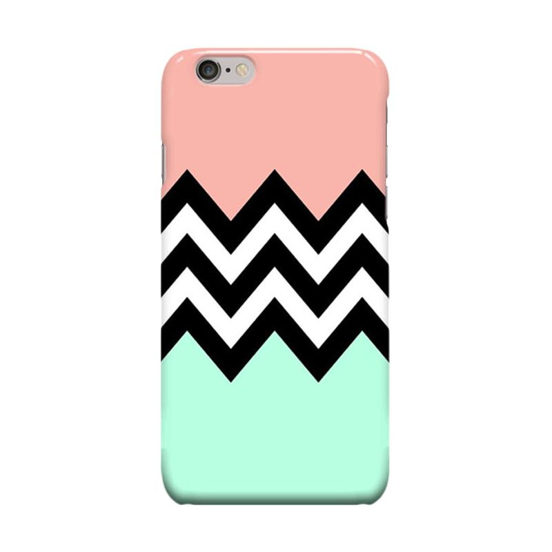 Indocustomcase Green Tosca Pink Cover Casing for Apple iPhone 6 Plus or 6S Plus