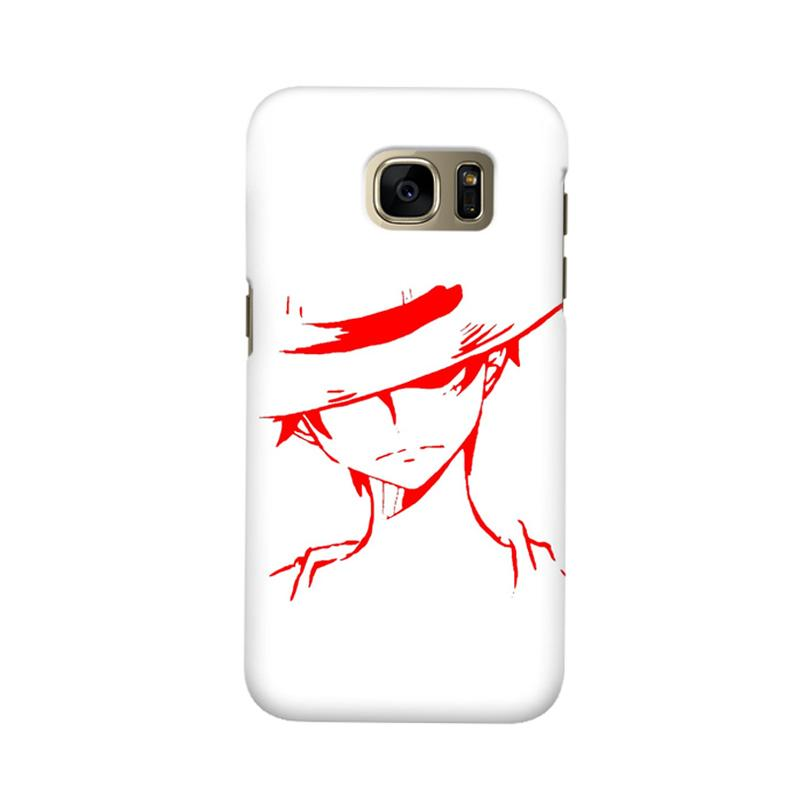 Indocustomcase Anime Luffy Soft Art Cover Casing for Samsung Galaxy S6 Edge