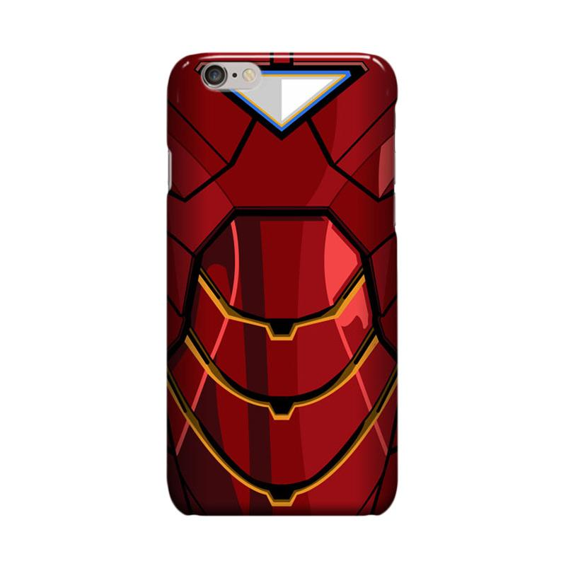Indocustomcase Iron Man Red Body Cover Casing for Apple Iphone 6 Plus or 6S Plus