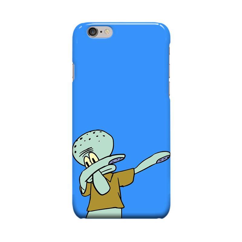Indocustomcase Cartoon Squidward Dap Casing for Apple iPhone 6 Plus or 6S Plus