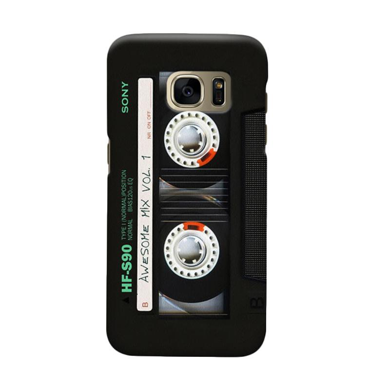Indocustomcase Cassette Classic Mix Cover Casing for Samsung Galaxy S6 Edge
