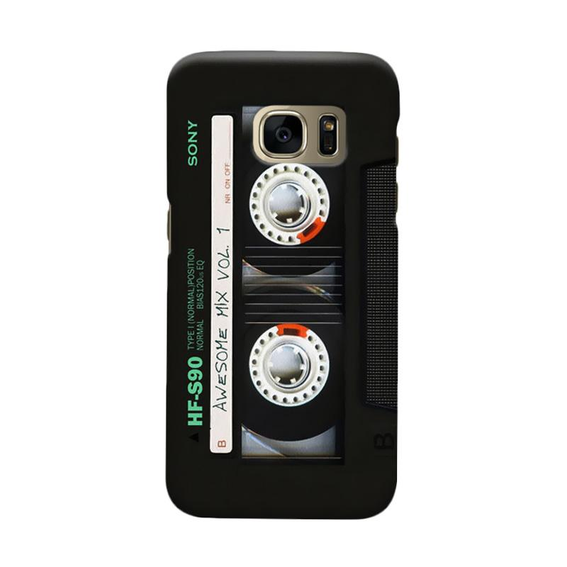Indocustomcase Cassette Classic Mix Cover Casing for Samsung Galaxy S7 Edge