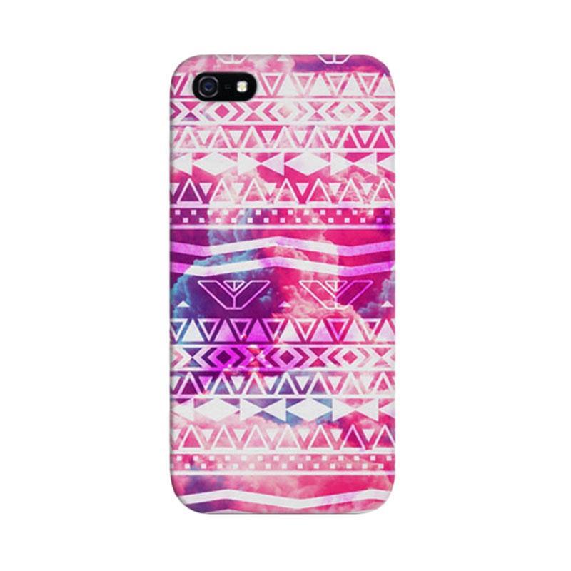 Indocustomcase I Girly White Astec Custom Hardcase Casing for Apple iPhone 5/5S/SE