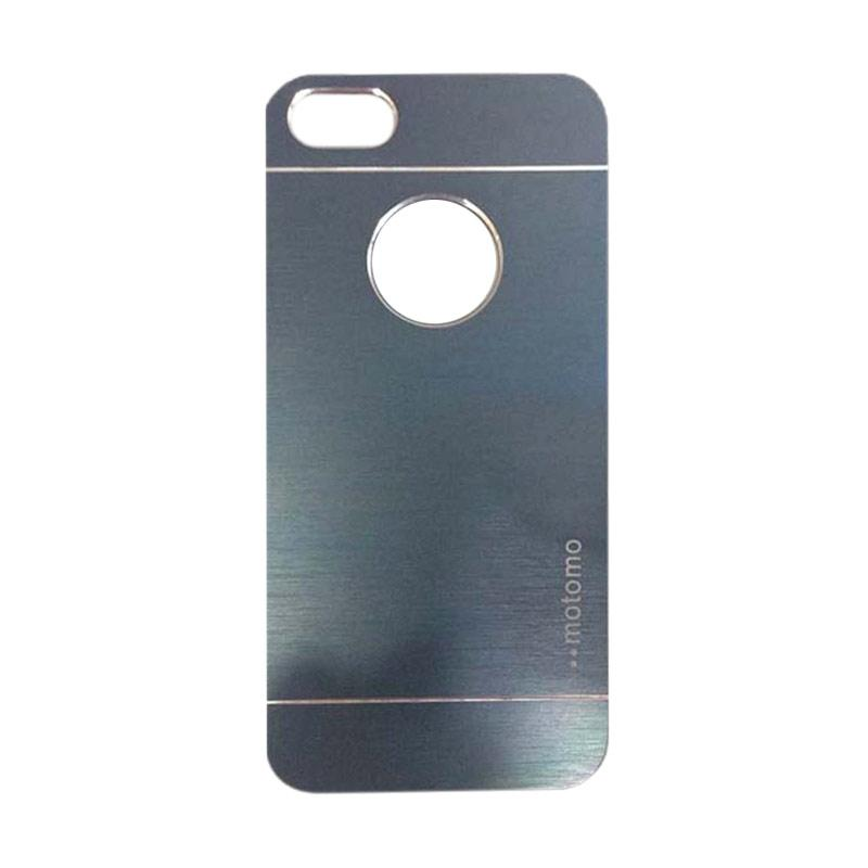 Motomo Metal Hardcase Backcase Casing for iPhone 5/iPhone 5G/iPhone 5S/5SE - Dark Blue